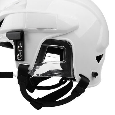 White Adjustable Ice Hockey Helmet with Cage Combo - M / L