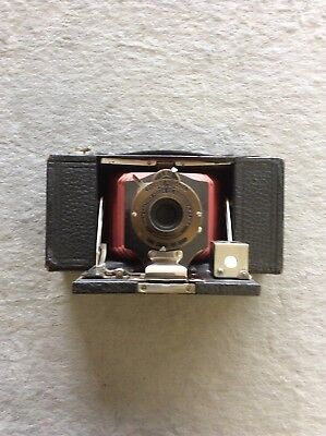 No.2 Folding Pocet Brownie Red Bellows