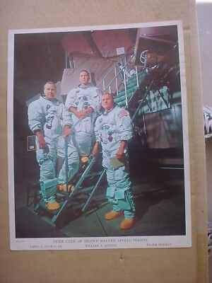 William A. Anders Signed Apollo 8 NASA Photo James A. Lovell, Jr. Frank Gorman