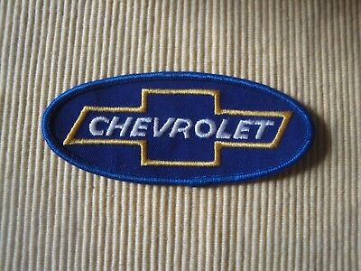 Vintage Chevrolet Bow Tie Oval Badge Patch Excellent Condition Nos