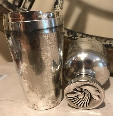 Vintage Cocktail Shaker Rooster By Napier Silver Plate Art Deco
