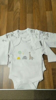 New next baby 3 pk long sleeve body suits age newborn unisex
