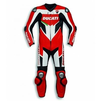 New Ducati 2017 Motogp Cowhide Leather Perforated Suit Corse C3 Man's
