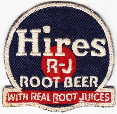Hires R-J Root Beer on Blue Twill Patch