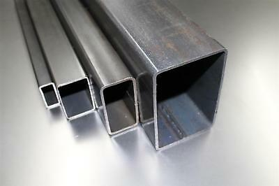 (4,76€/m) 50x25x2mm Rectangular pipe Square tubing Profile Steel-pipe to 2000mm