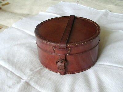 Victorian Leather Hard /Soft Collar Box/Pouch