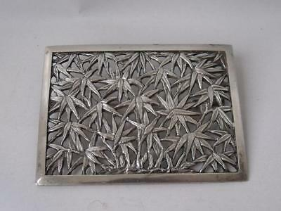 "Chinese Solid Silver ""Bamboo"" Panel Brooch/ UNMARKED/ L 6.9 cm/ 21 g"