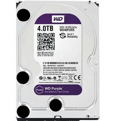 Western Digital WD Purple 4TB WD40PURX Surveillance Hard Drive BRAND NEW SEALED