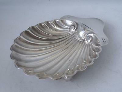 Antique Solid Sterling Silver Shell Shaped Dish 1910/ L 13.3 cm/ 66 g