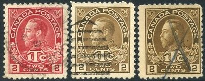 CANADA 1916 2+1c Shades 3 early used between SG#231-240 [2838]