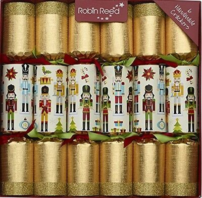 Robin Reed H7 Christmas Holiday 6pc Party Crackers – Nutcracker 680