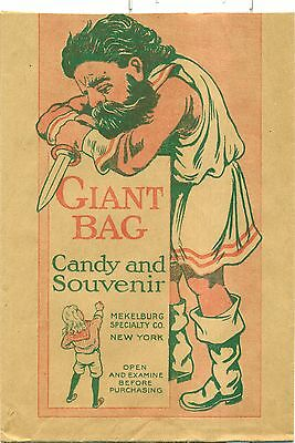 1930's Mekelburg Specialty Co. Giant Candy and Souvenir Bag