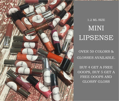 Mini LipSense SeneGence Lip Color Long-Lasting FREE Glossy Sample Packet w/color