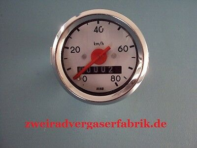 Speedometer Hercules Prima 2 3 4 5 Optima MP 4 Moped 80 Kmh NEW