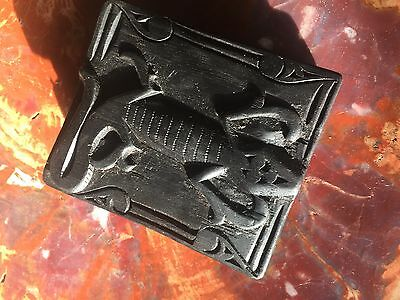 Wooden Cover Hand Carved Shaman Book From Indonesia - Batak Culture