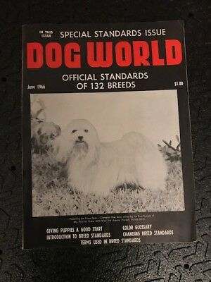 Dog World Magazine June 1966 Issue Special Standards Issue Lhasa Apso Cover