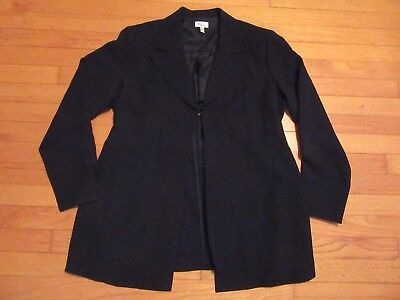 Mimi Maternity Black Jacket/Blazer Size Large
