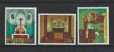 Netherlands Antilles - #324-#326 - Churches Set (1970) Mnh