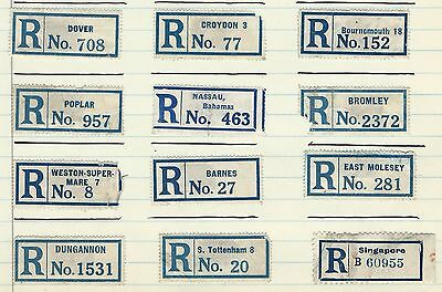 Great Britain - Registration Labels Lot #4 Some International