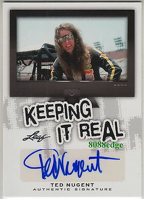 """2013 Pop Century Keeping It Real Auto: Ted Nugent - Autograph """"the Amboy Dukes"""""""