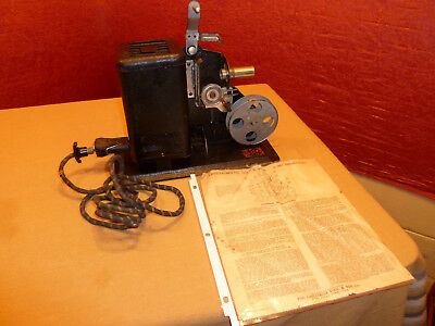 Lindstrom 16mm Projector Mod 1015, w/Cord, Reel, Bulb, Instructions, Electric