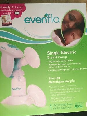 Evenflo Single Electric Breast Pump Lightweight and Portable New Sealed