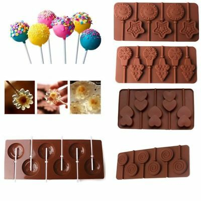 Snowflake Lollipop Cake Mold Flexible Silicone Mould For Candy Chocolate DIY
