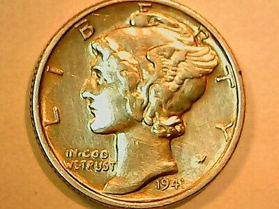 Uncirculated 1941 Philadelphia Mint Silver Mercury Dime (Free Shipping)