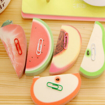 1pc Creative Fruit Shaped Memo Stationary Notes DIY Sticker Flags Sticky