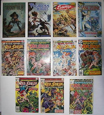 (43) Female Jungle /savage Comics Red Sonja, Shanna, Tigress, Etc