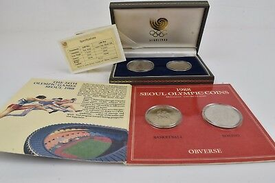 Lot of 2 Sets of Seoul Olympic 1988 Coins 1000 & 2000 Won.