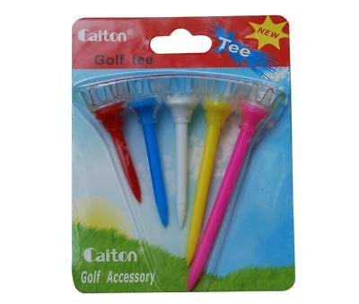 Hot Sale Quality 1set 5pcs NEW Pride Sports Evolution Golf Tees Mixed Colorful