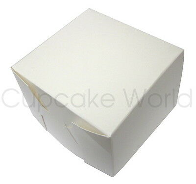 100 PK 10x10x7.5cm BULK WHITE CUPCAKE CAKE MUFFIN BOMBONIERE WEDDING BOX