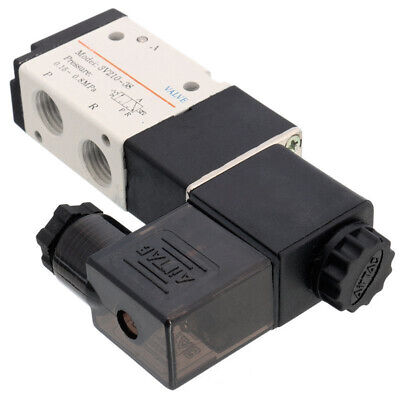 "DC12V Air Aluminum Pneumatic Solenoid Valve 3V210-08 3 Way 2 Position 1/4"" New"