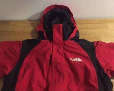 Children's The North Face Coat Jacket Red/Black Size MEDIUM Hood Insulated