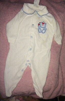 Vintage Baby Sleeper Terry cloth