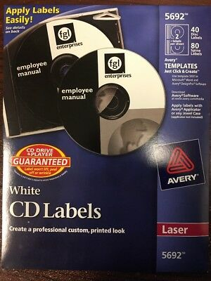 Avery® Laser CD Labels, Matte White, 40/Pack 072782056926