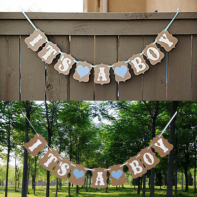 It's A Boy/Girl Baby Shower Bunting Party Banner Garland Photo Props Decor Sign.