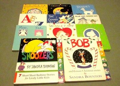 11 Sandra Boynton Children's Board Book Lot  Doggies Snoozers Pajama Time