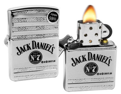 Zippo 29526 Jack Daniels Deep Carved Armor High Polish Chrome Lighter New