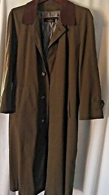 Brooks Brothers Full Length Olive Trench Coat Size L Price Reduction