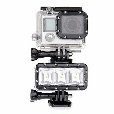 LED Flash Diving Light Waterproof for Gopro Hero4 Mount Session 4 3 2 Supply Pro