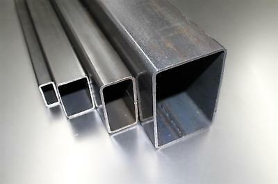 (10,20€/m) 80x20x3mm Rectangular pipe Square tubing Profile Steel-pipe to 1000mm