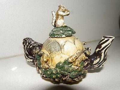 Antique Miniature Beautifully Carved Stone Teapot - Amazing - C.1800