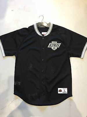 Mitchell And Ness La Kings Nhl Ice Hockey Official Mesh Warm Up Set