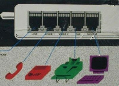 Multi-link 4-port Fax Switch STICK Line Sharing Device NEW