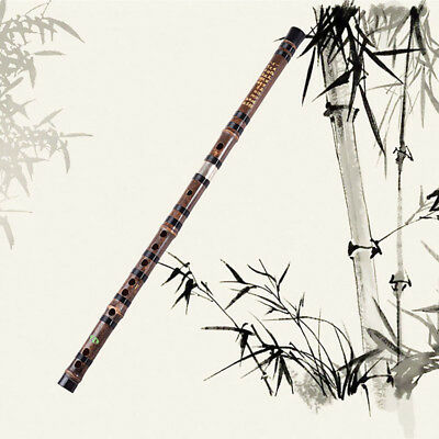 2 Sections Purple Bamboo Flute Xiao,Pro Instrument Chinese Shakuhachi  Accessory