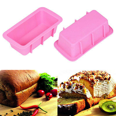 DIY Silicone Bread Loaf Mold Cake Non Stick Bakeware Baking Pan Oven Soap Mould.