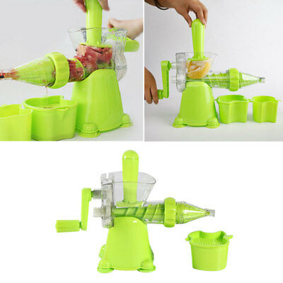 Healthy Manual Vegetables Wheatgrass Fruit Juicer Home Kitchen Utensil New..