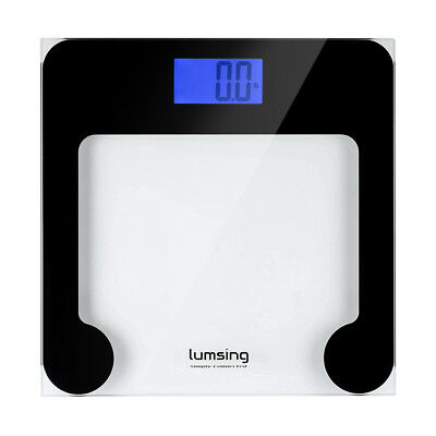180kg Digital LCD Bathroom Electronic Body Scales Glass Personal Lose Weight Fat
